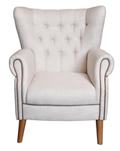 Antique Fabric Leisure Armchair, Reading Room Chair, Hotel Armchair