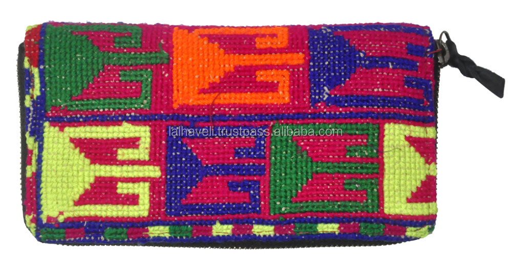 Hot Sale Designers Stylish Women Small Hand Bags Wholesale Indian Ethnic Handmade Heavy Embroidered Ladies Purse