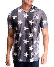 Star Sublimation Print T Shirts Light Wight Customized Logo Slim Fit T Shirts