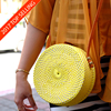 Bali Affordable Rattan Round Bag Leather Strap Low MOQ Mix Model Accepted