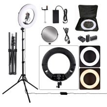 photographic lighting 18 inch beauty lamp 96w battery operated led ring light