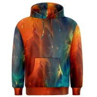 All over fancy 3d painting polyester pullover men dye sublimation hoodies