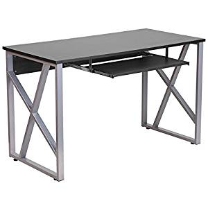 Hamlet Black Home/Office Computer Desk w/Pull-Out Keyboard Tray