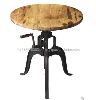 Industrial cast iron bistro bar table
