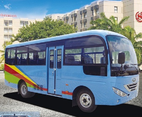 2018 hot selling bus isuzu chassis 6.65m diesel bus with high