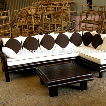 Frisk großhandel] Bambussofa - Bambusmöbel - Doppelstuhl / 2-sitzer TY-07