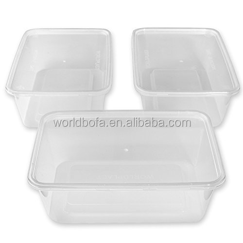 Disposable food storage containers plastic divided takeaway box