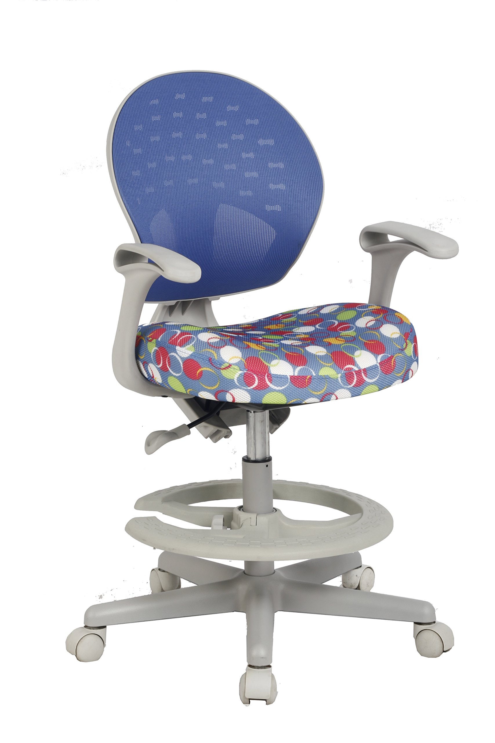 VIVA OFFICE Children's Desk Chair with Adjustable Height,Depth and Foot Rest