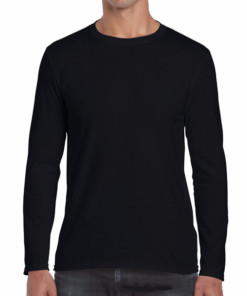 100% cotton black cheap plain blank custom men long sleeve t shirt