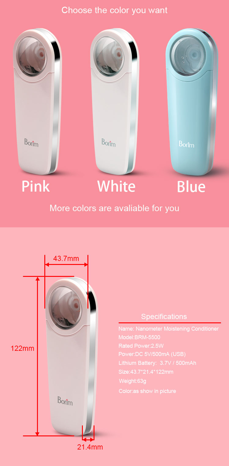 Strict Hot Sale 1 Pcs Mini Face Spray Humidifier Nano Facial Steamer Usb Charging Hydrating Led Sprayer Skin Care Face Skin Care Tools