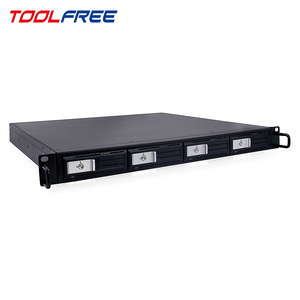 TOOLFREE 1U Server RackMount 4Bay Trayless HDD Enclosure USB3.0 Hot Swap Storage Case Chassis