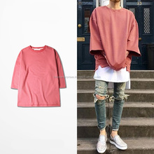 2016 new half sleeve t shirts oversized men tees homme Kanye WEST style clothing t-shirt hip hop pink streetwear mens t shirts