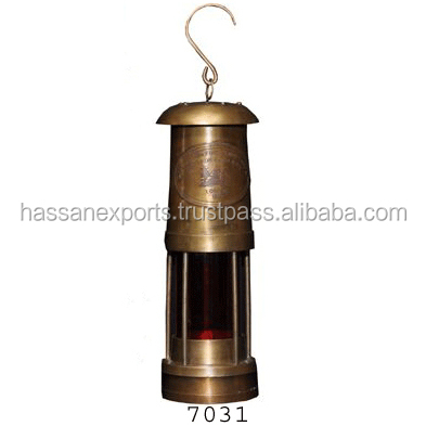 Miners lamp Nautical lamp Brass Miner Lamp