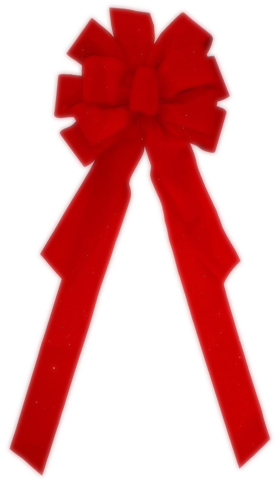 """Large Red Bow 10 Loops 30"""" X 11"""" Velvet #0351567 ~ Indoor or Outdoor Holiday Christmas Decoration for Front Door Tree Wreath Garage House Windows Office Classroom Hotel Fireplace Mantle Church School Decorations Etc."""