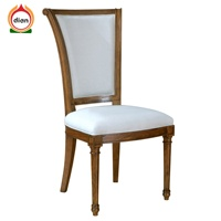 Elegant Dining Room Chair with White Cushion Furniture
