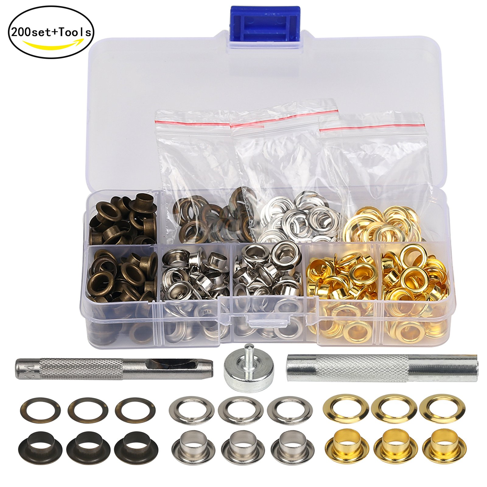 C.S 235-00 Osborne /& Co Hobbiest Grommet Setting Kit : Midget Grommet Setting Die-Size 00 G1-00 /& 72 QTY-BRASS Grommets /& Washers-Size 00