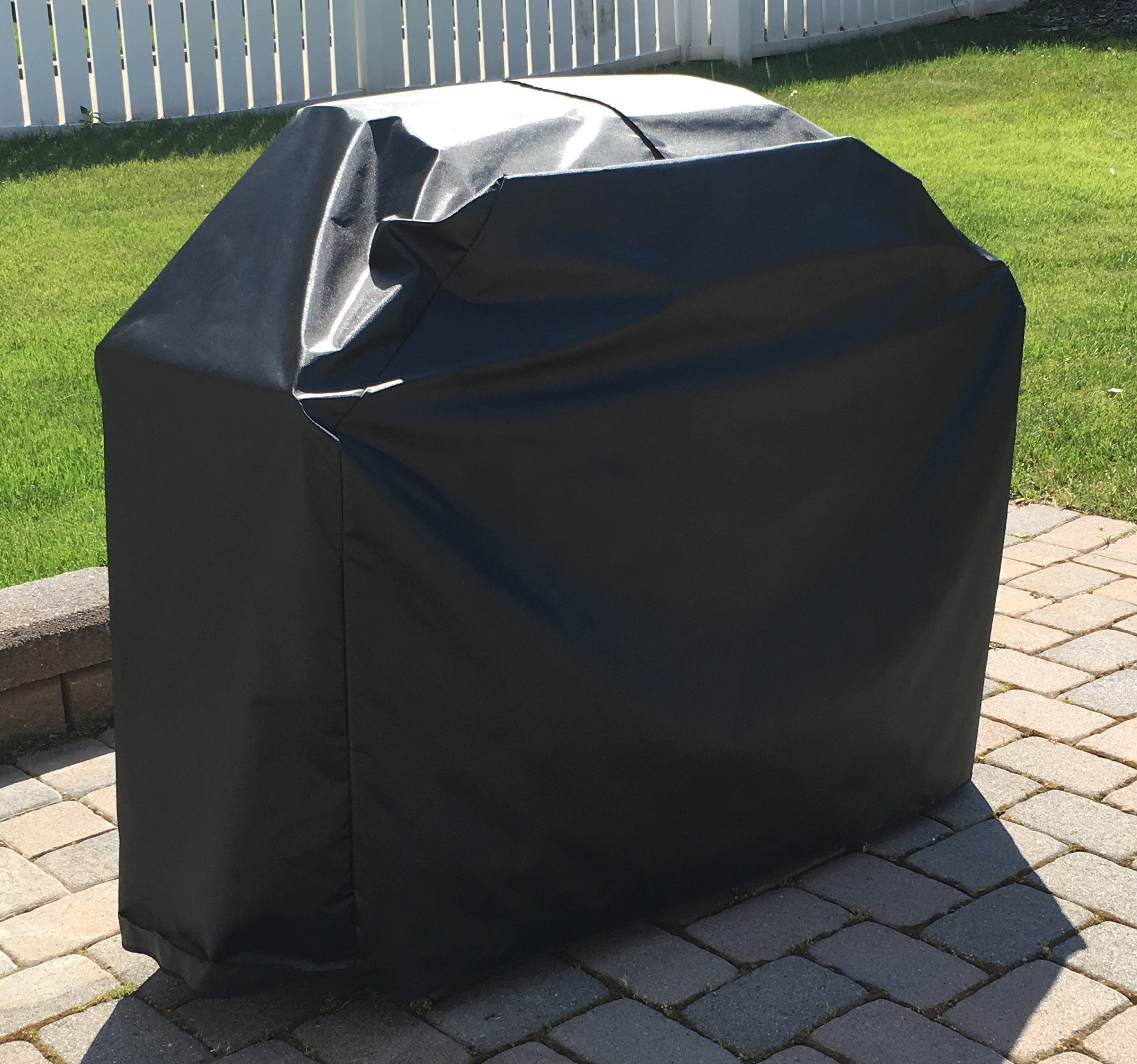 Comp Bind Technology Grill Cover for Weber Genesis II E-310 Gas Grill, Outdoor, Waterproof Black Grill Cover By 54''W x 29''D x 45''H