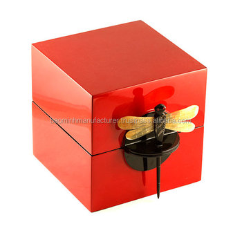 223ac8a24 High Quality Square Vietnam Lacquer Box With Dragonfly Key - Buy ...