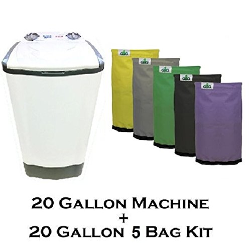 20 Gallon Bubble Magic Washing Machine + GROW1 Ice Hash Extraction 5 Bags Kit