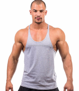 059f5441958ca Gym Singlets Mens Tank Tops Cotton Stringer Bodybuilding and Fitness