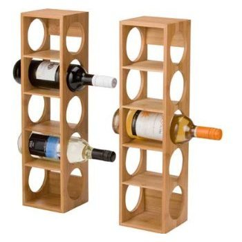 Wooden Stack Able Wine Rack 6 Bottles Wine Holder Storage Rack