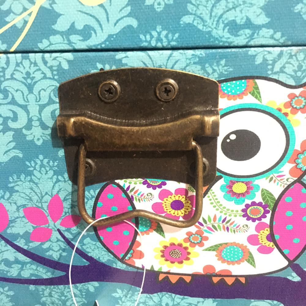 Home Garden Manufacturer Blue Butterfly Storage Trunk Chest, Storage Trunk  Lock