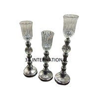 wedding crystal candle holder decoration glass votive