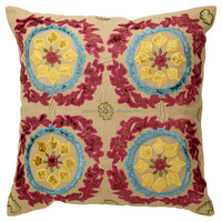 Handmade Embroidered Suzani Outdoor Chair Decor Square Pillow Cushion Cover