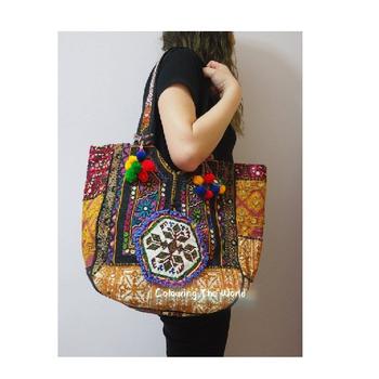 1c34c71d0d1f Оптовая Продажа Винтаж banjara Племенной зеркало работы дизайнер кожа  вышитые банджарские сумки