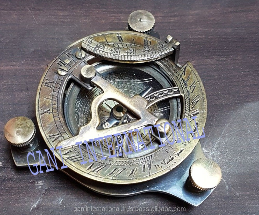 Unique Handmade Maritime Nautical Compass Vintage Collectible Compass With Case