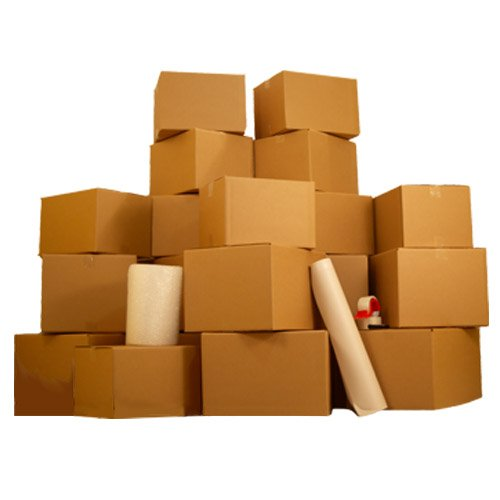 36 Moving Boxes, 2 Room Basic Moving Kit, Tape, Bubble, Packing Paper