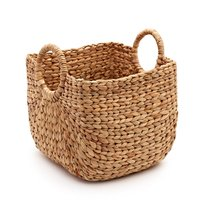 Ecofriendly water hyacinth basket for clothes/ wholesale storage basket made by water hyacinth
