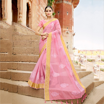 Party Wear Latest Designer Organza Embroidery Work Sarees Wholesale