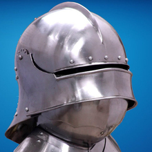 Sca <span class=keywords><strong>Larp</strong></span> Middeleeuwse Ridder Close Armet Helm 16 Gauge