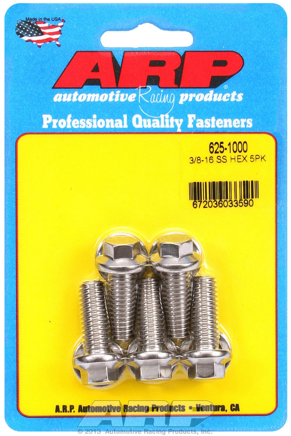 ARP 4307402 Thermostat Housing Bolts Stainless Steel With Hex Style Heads For Select Chevrolet Applications 3 Pack