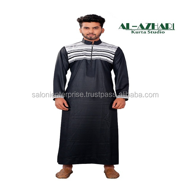 Arabian thobe supplier daffah muslim clothing korean fabric at the best price