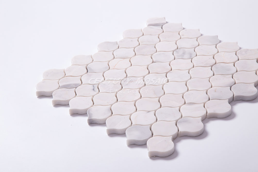 Mist White Heart Shape Mosaic Polished Wall Mosaics