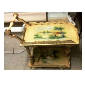 Hand Painted French Antique Tea Cart Buy Wooden Tea Cartsantique Cart Woodentea Serving Carts Product On Alibabacom