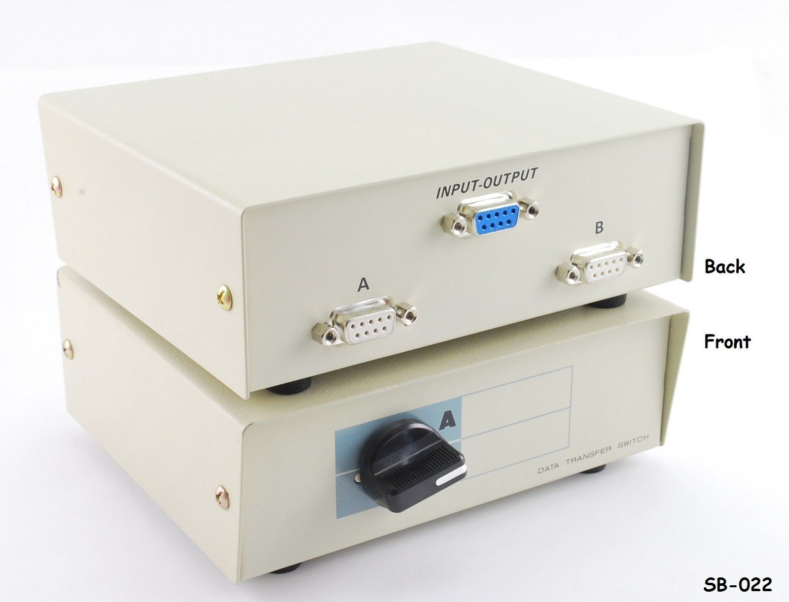 SB-001 Metal CablesOnline 2-Way A//B DB25 Parallel Printer Rotary Switch Box