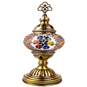 Moroccan handmade turkish lamps with stained glass shade tiffany mosaic table lamp Promotion Size Best Offer