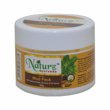 Naturz Ayurveda Mud Pack Nutre A Pele-Remove as impurezas e Acne Livre