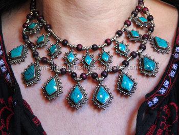 Blueturquoise necklace kuchi pendant necklace coin necklace blueturquoise necklace kuchi pendant necklace coin necklace afghan necklace bohemian necklace set aloadofball Images