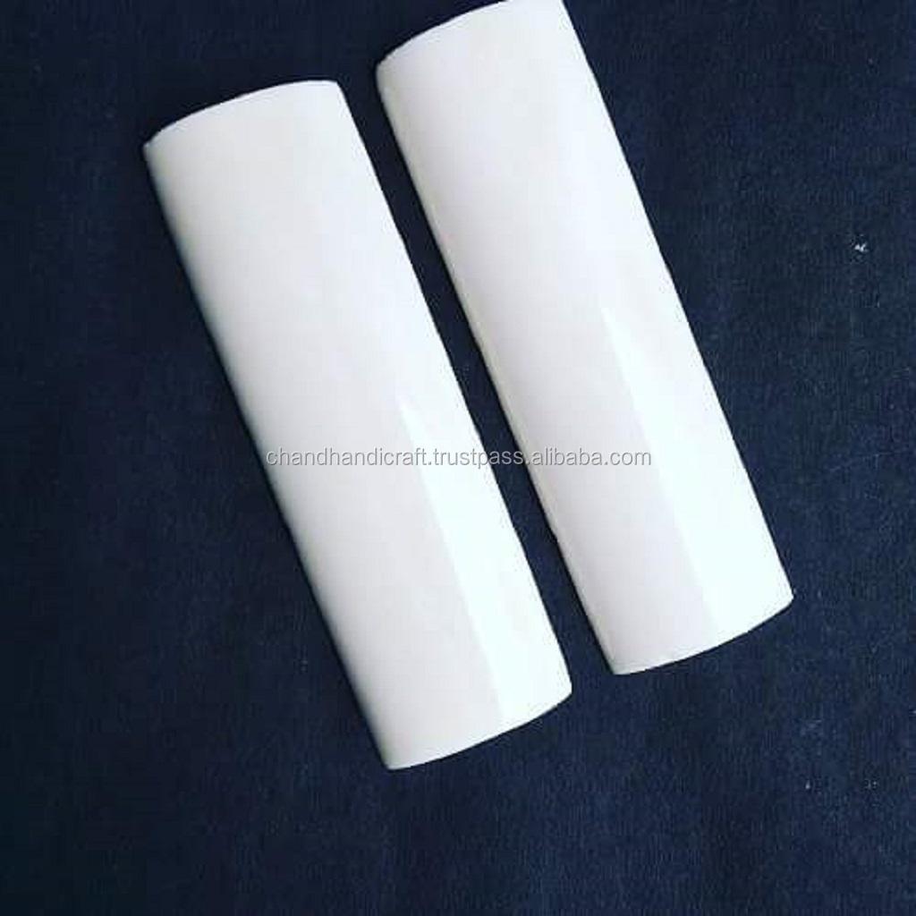 91 Mango Blanco Azul cuchillo Personalizado compuesto material escalas en blanco