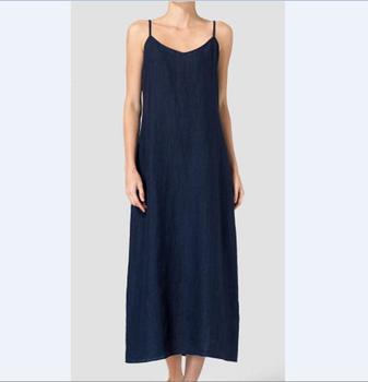 559ffa8185d Ladies loose fitting linen dresses summer simple blue oversized linen dress  Maternity Women Fashion linen dress