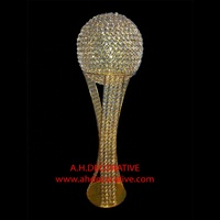 Gold Crystal Trophy Centerpiece