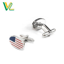 China Factory Smart 아연 합금 다이 주조 Clois-Tech country flag 아메리칸 Metal unisex 커 프 link 대 한 sales