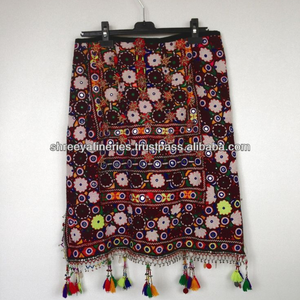 eb902a03b745 Indian gypsy style mirror work handmade Banjara Skirt