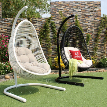 2018 Top Vente UV Rsistance En Rotin Swing Oeuf Chaise De Jardin Plein Air Meubles
