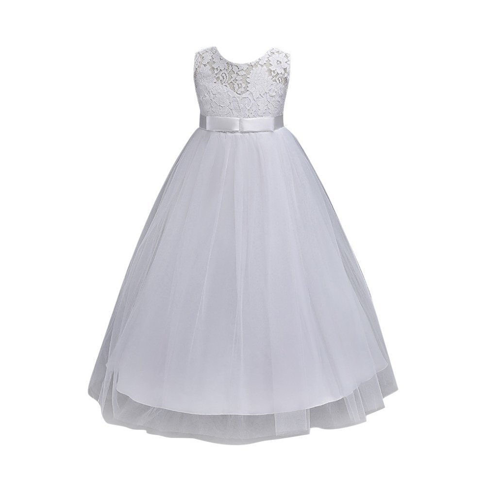 0a5d3b0fc27 Get Quotations · Wingbind Girl Princess Infant Baby Ruffles Flowers Big Bow Sequin  Dress Tulle Dresses Layered Dress Evening