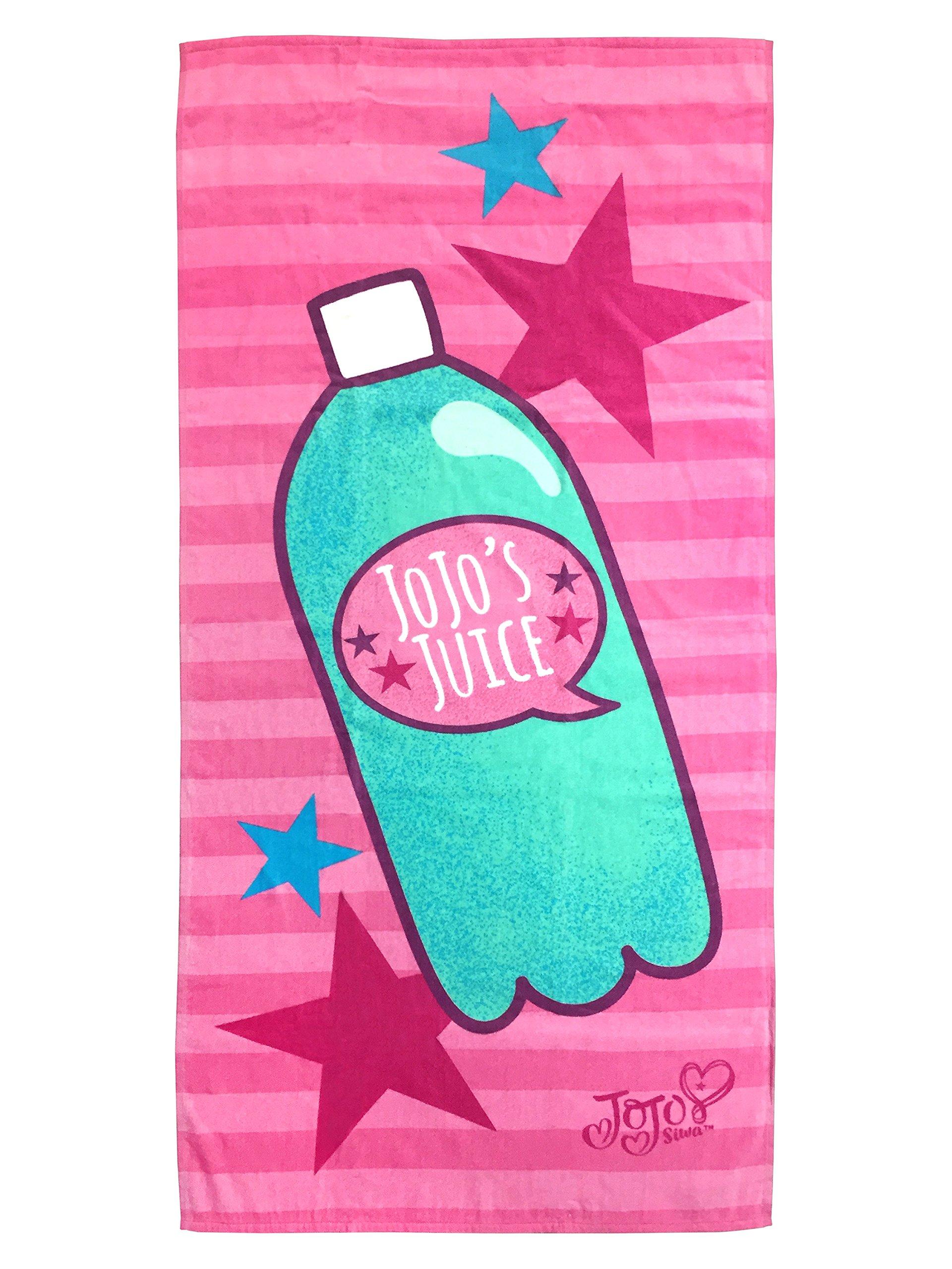 "Nickelodeon JoJo Siwa Jojo's Juice 28"" x 58"" Cotton Beach/Bath/Pool Towel, Pink/Purple"
